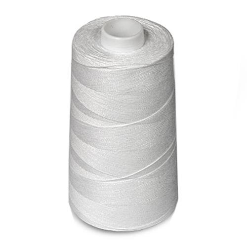 Нитки армированные швейные, 5000 м (цвет: белые), арт. 100 ЛХ