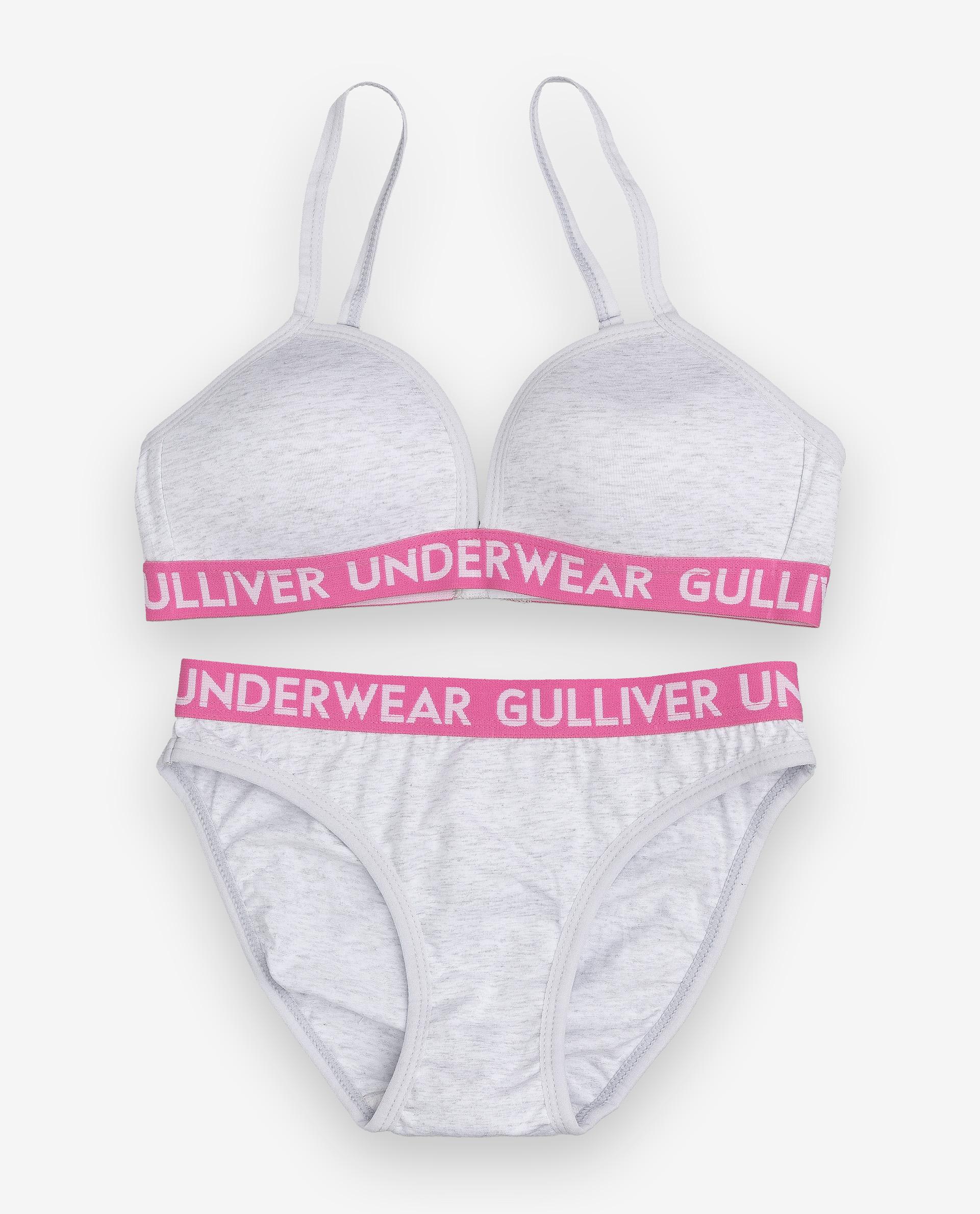 Комплект нижнего белья Gulliver, цв. серый р.158