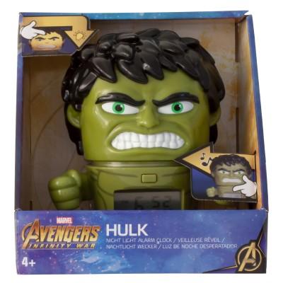 Будильник BulbBotz Marvel, минифигура Hulk (Халк)