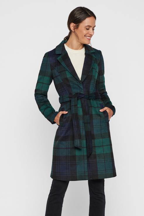 Пальто-халат женское Vero Moda 10215527 зеленое M
