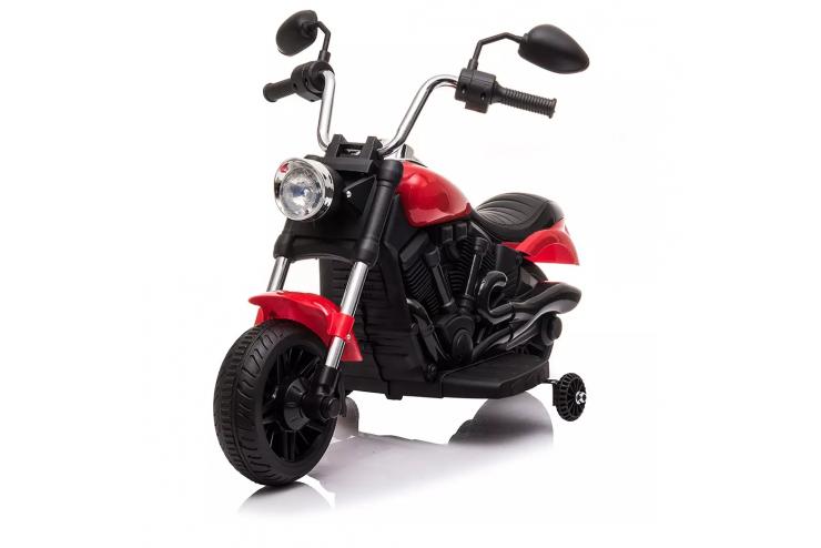 Детский электромотоцикл Jiajia 8740015 Red с надувными