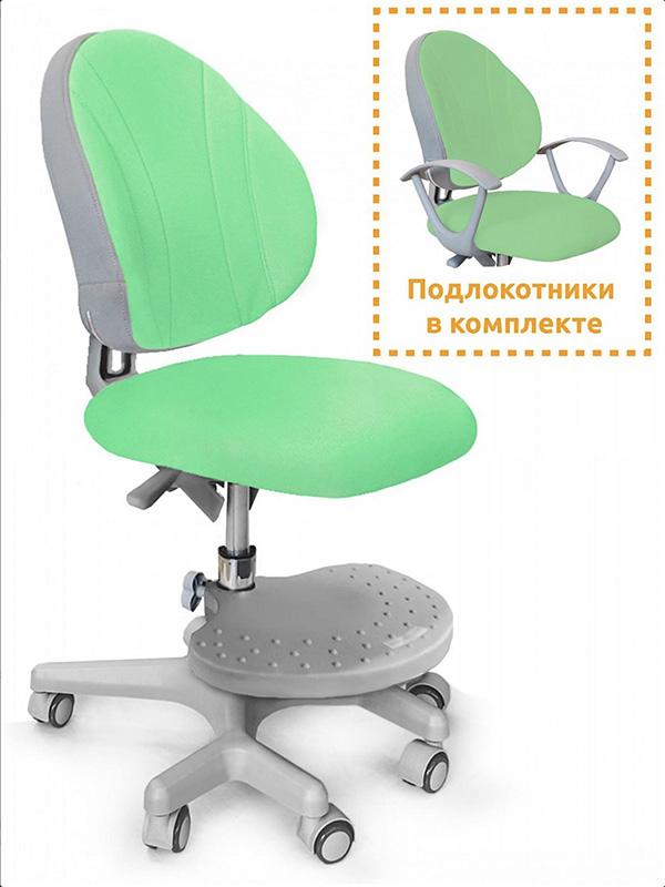 Детское кресло Mealux EVO Mio Y-407 цвет обивки: зеленый, цвет каркаса: серый