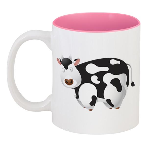 Кружка Printio цветная внутри Корова