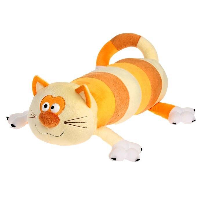 Мягкая игрушка Princess Love Кот-батон оранжевый, 56 см
