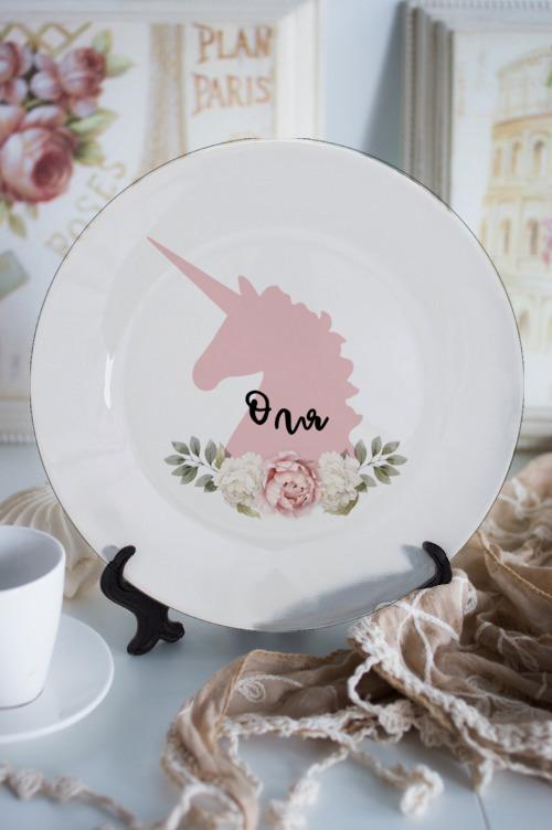Тарелка декоративная именная Оля