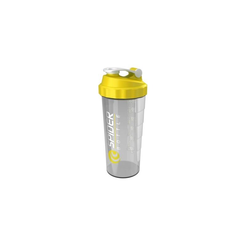 Шейкер Spider Bottle Maxi2Go 2 отсека 600 мл прозрачный/желтый