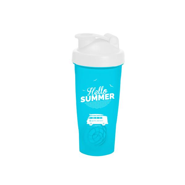 Спортивный элемент Шейкер Surf Time (Синий Hello Summer) 600 мл