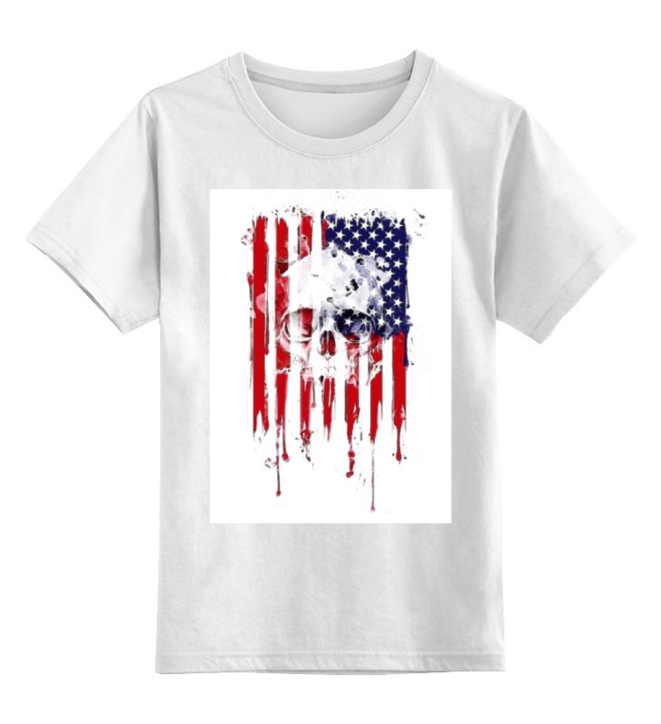 Детская футболка классическая Printio Американский череп, р. 152 0000000680313