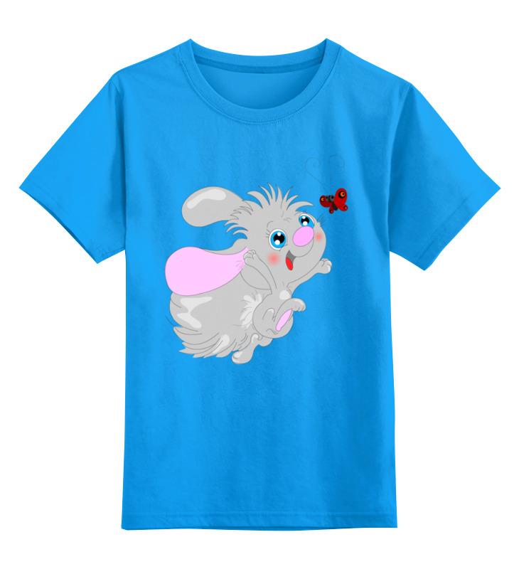 Детская футболка Printio Ушастик цв.голубой р.128 0000003496431 по цене 990
