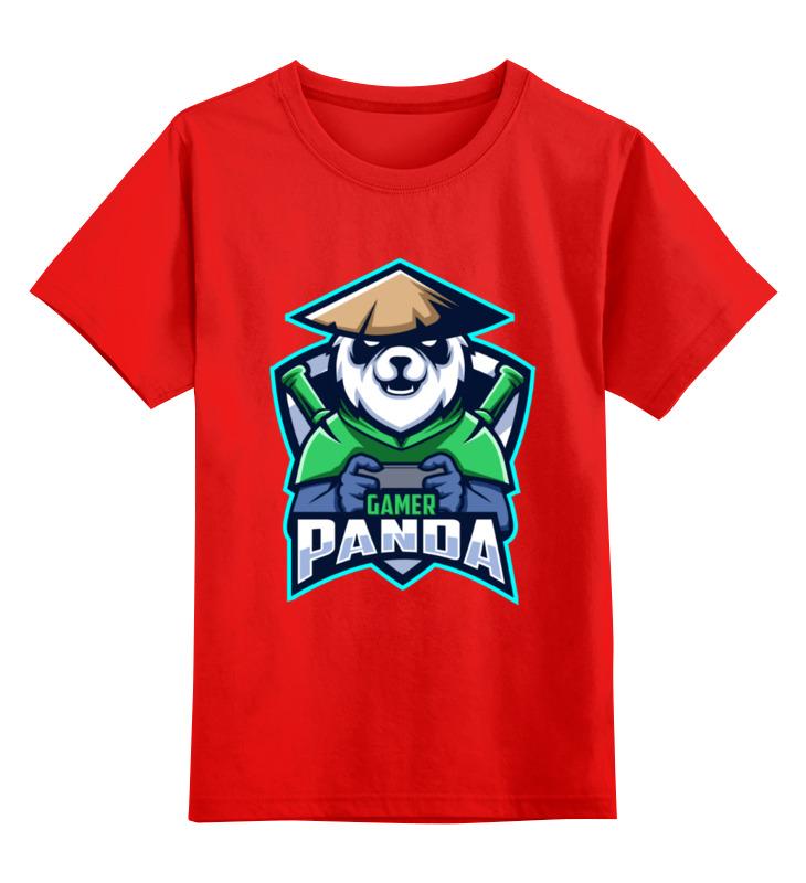 Детская футболка Printio Панда цв.красный р.128 0000003536385 по цене 990
