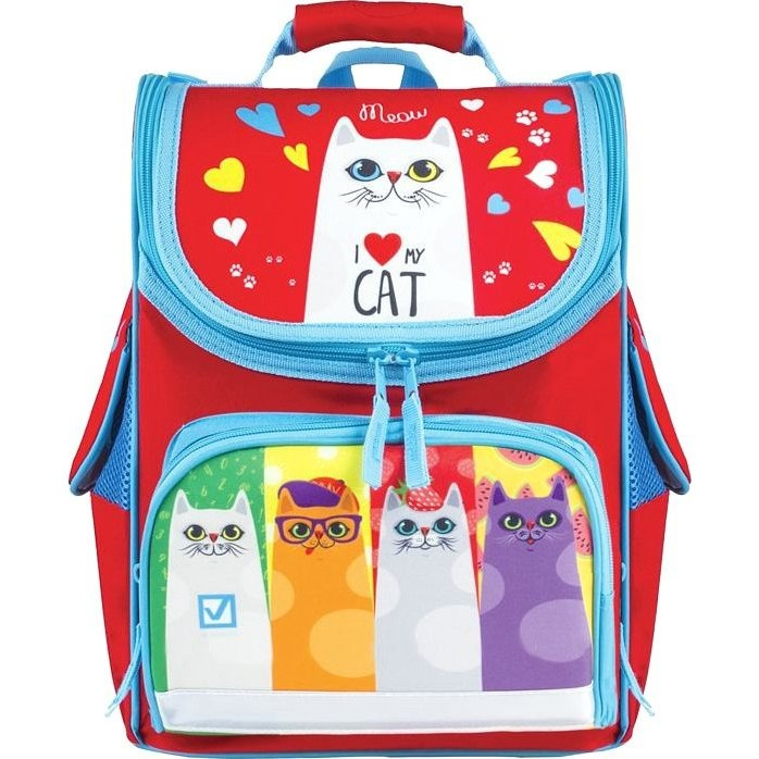 Купить Ранец BRAUBERG STYLE Коты, Школьные рюкзаки для девочек