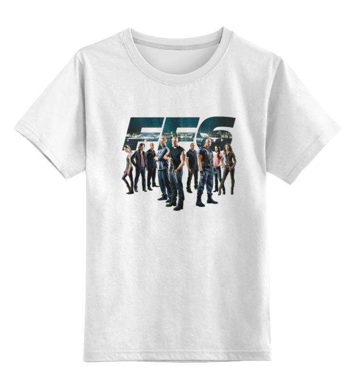 Купить 0000000686739, Детская футболка классическая Printio Fast & furious, р. 152,
