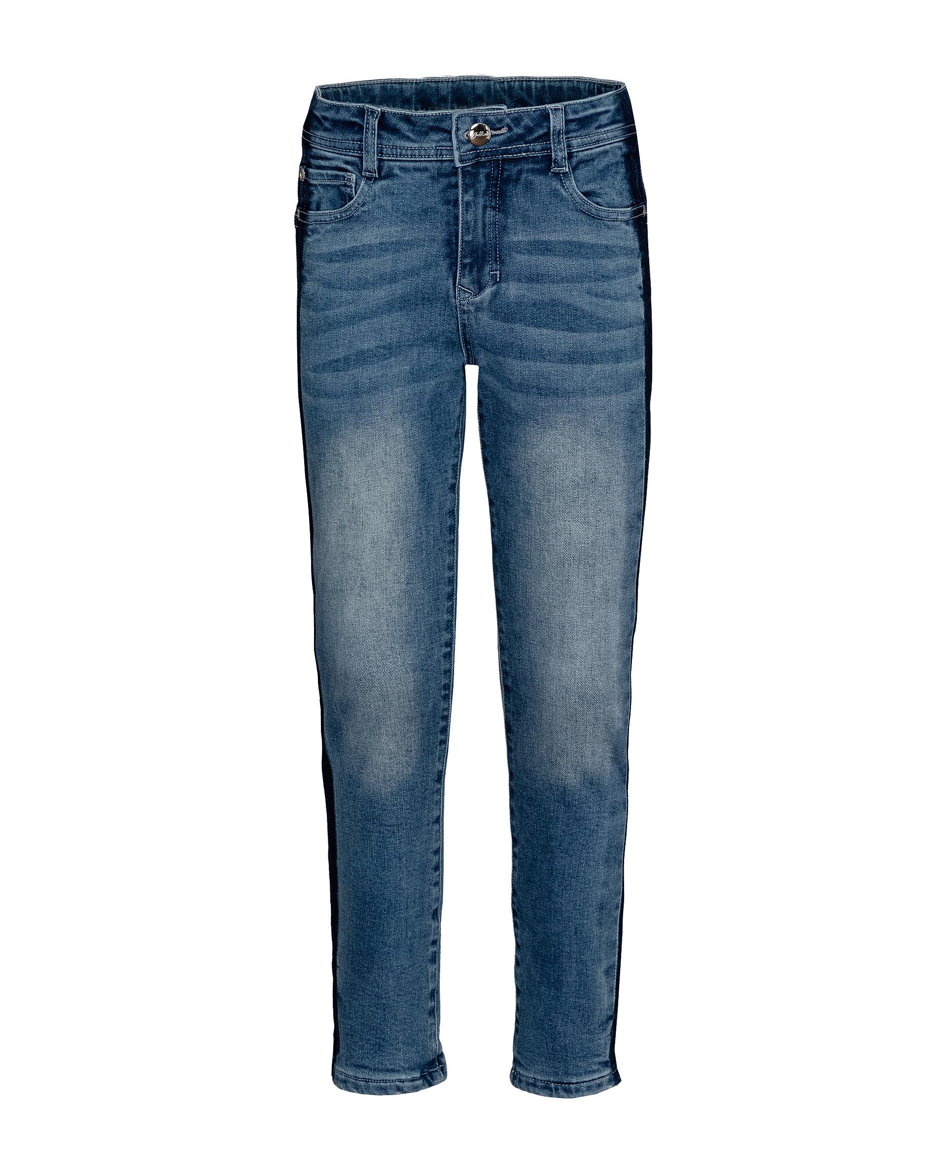Утепленные джинсы для девочек Gulliver, цв. синий, р.164, 21909GJC6403
