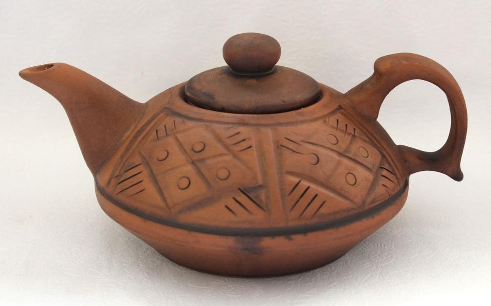 Чайник Сакура малый 0,4л Кунгурская керамика