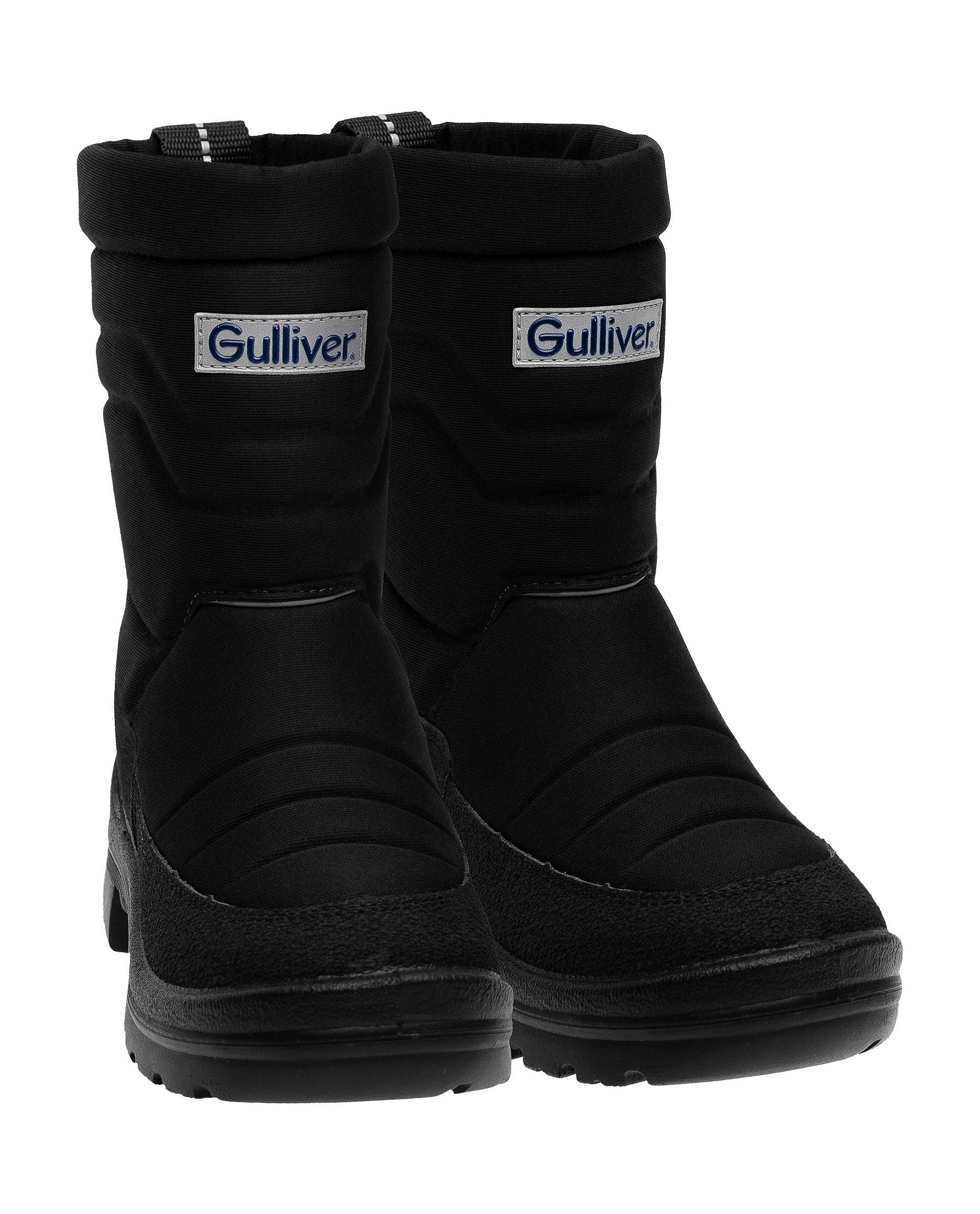 Дутики детские Gulliver, цв. черный р.28 21904BMS1101
