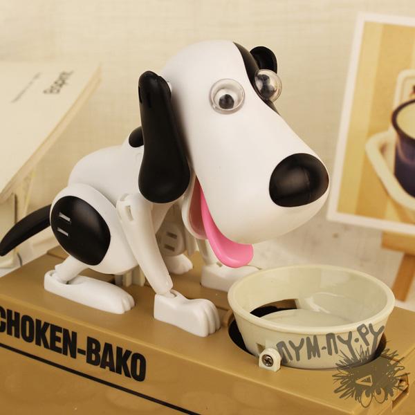 Интерактивная копилка собачка Choken bako