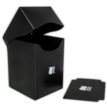 Пластиковая коробочка Blackfire вертикальная черная, 100+ карт