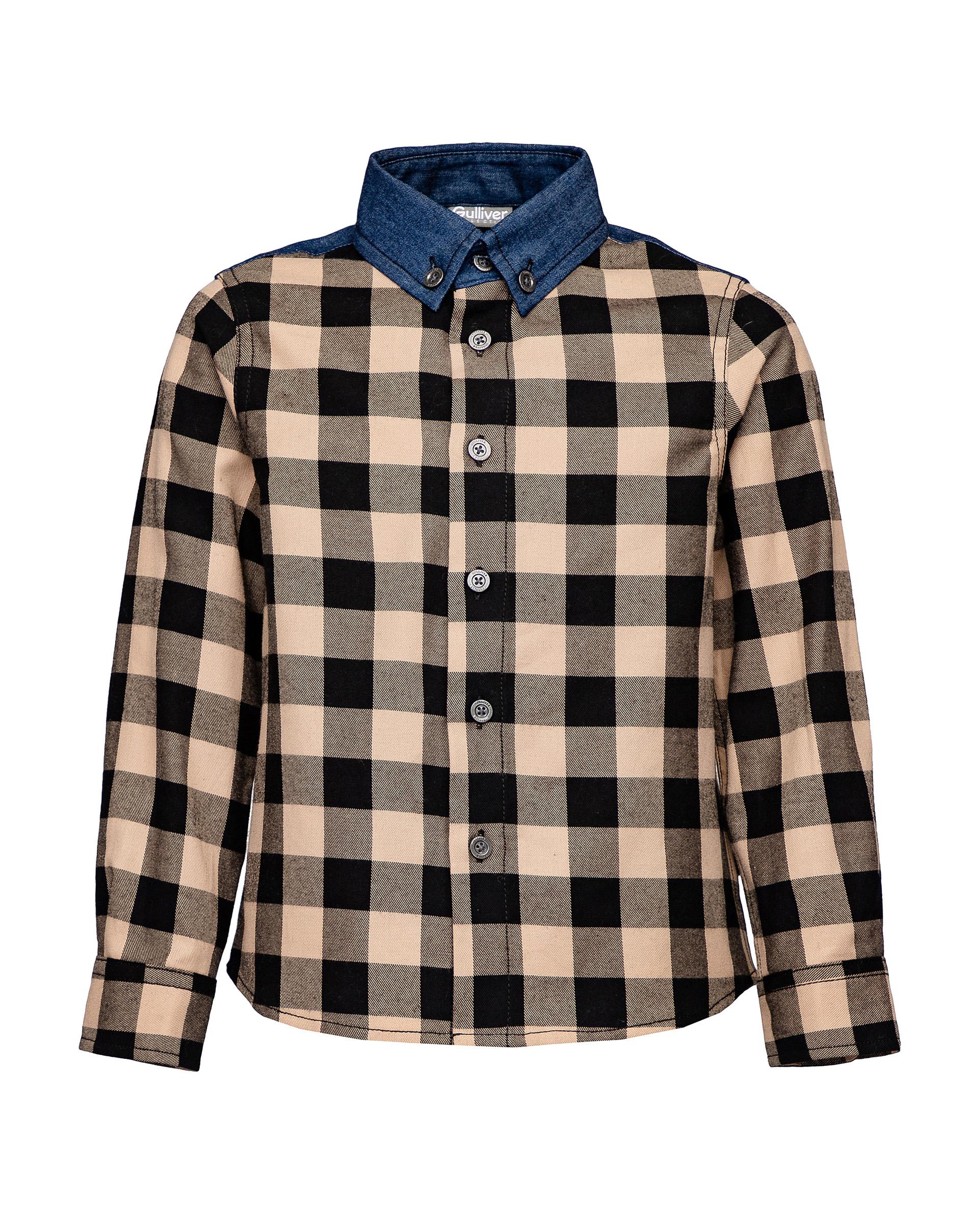 Купить 21905BMC2302, Рубашка для мальчиков Gulliver, цв. бежевый, р.98,