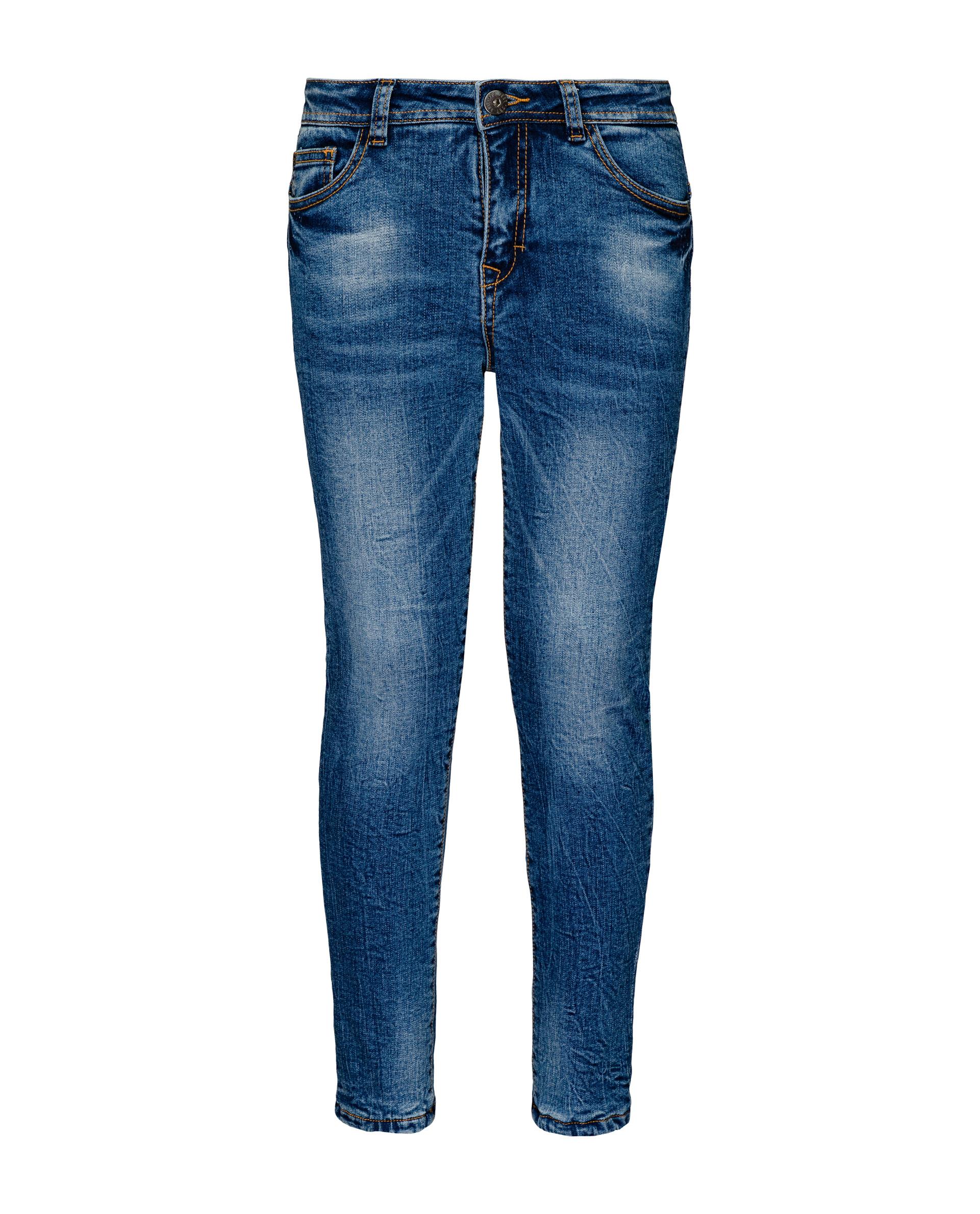 Утепленные джинсы для девочек Gulliver, цв. синий, р.164 21908GJC6407