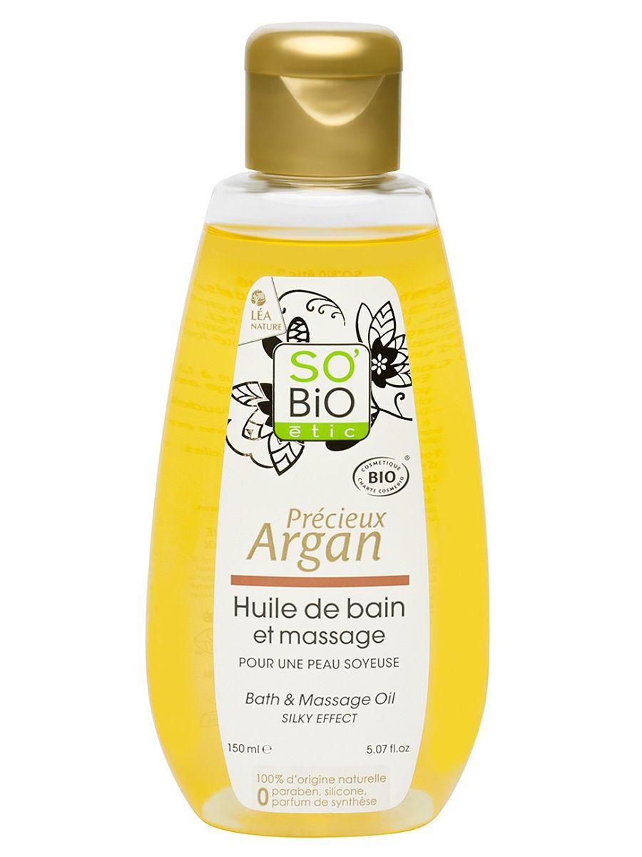 Купить Масло аргановое для массажа и ванны SO'BiO etic 150 мл, Для массажа и ванны