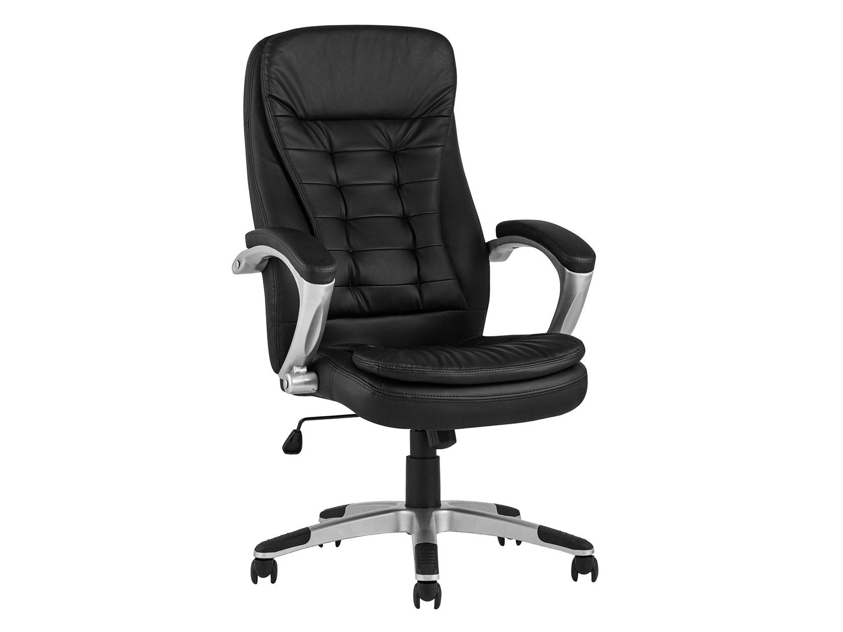 Кресло руководителяTopChairsControl Черный, экокожа
