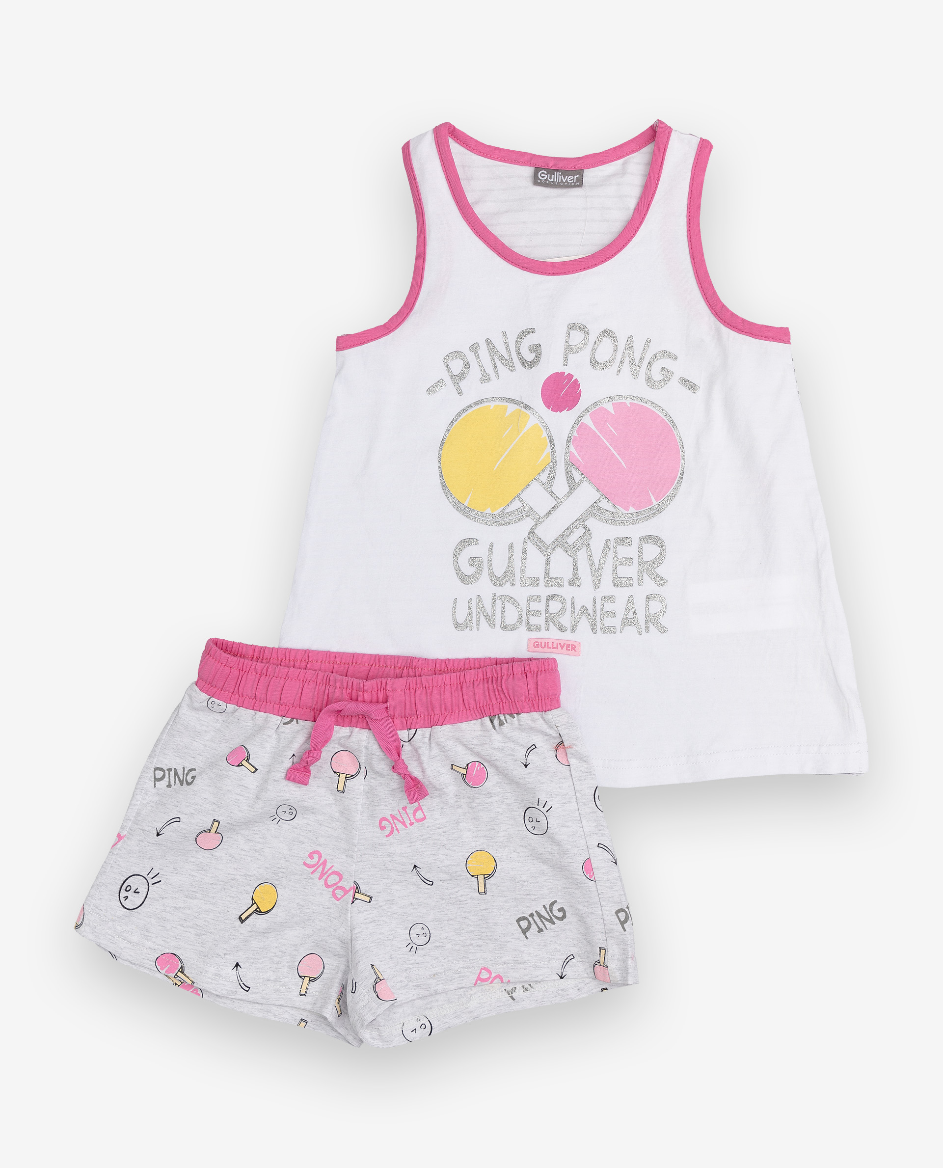 Купить 12000GC9702, Пижама детская Gulliver, цв. серый р.134,