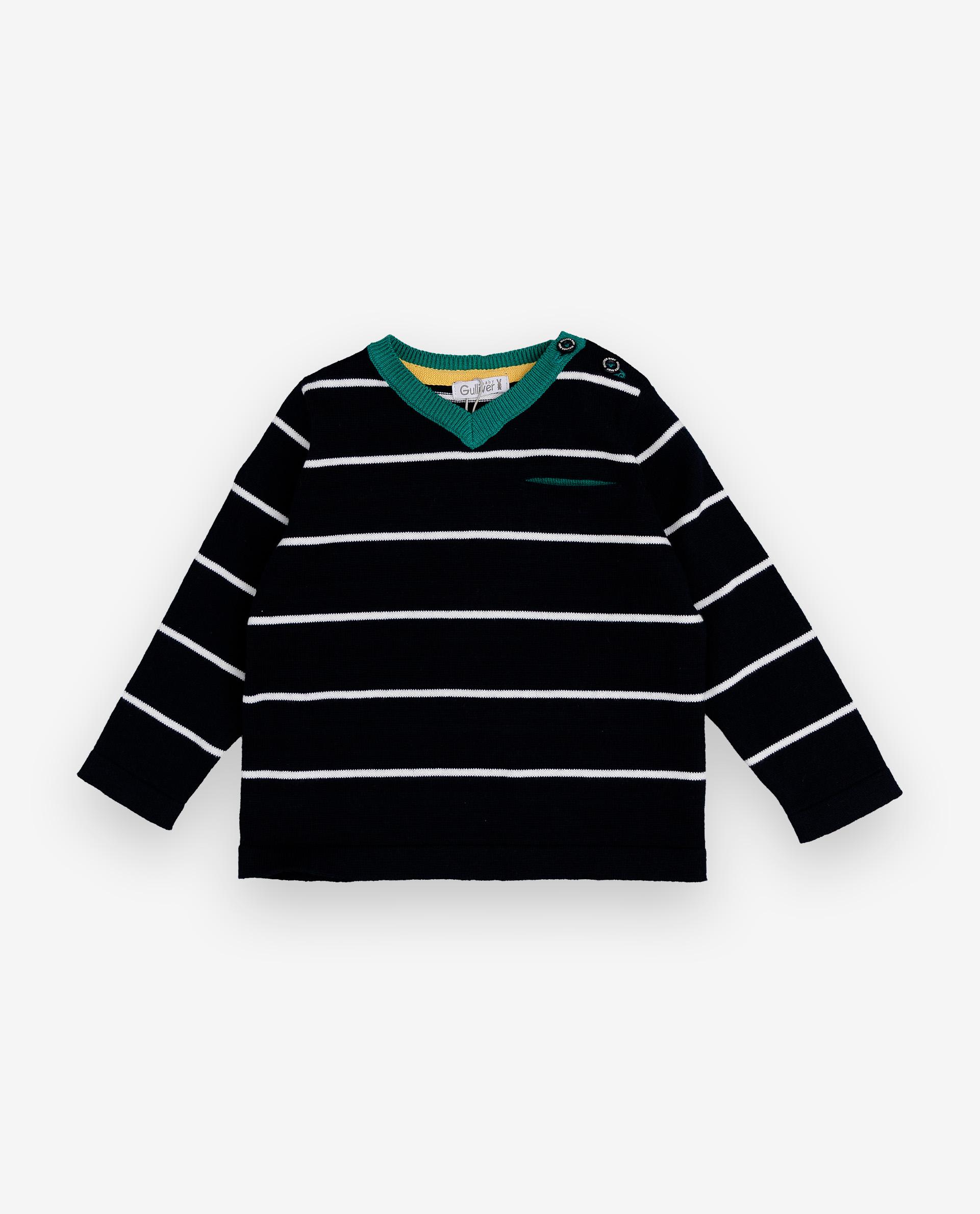 Купить 12033BBC3101, Джемпер для мальчиков Gulliver, цв. синий, р.74, Кофточки, футболки для новорожденных