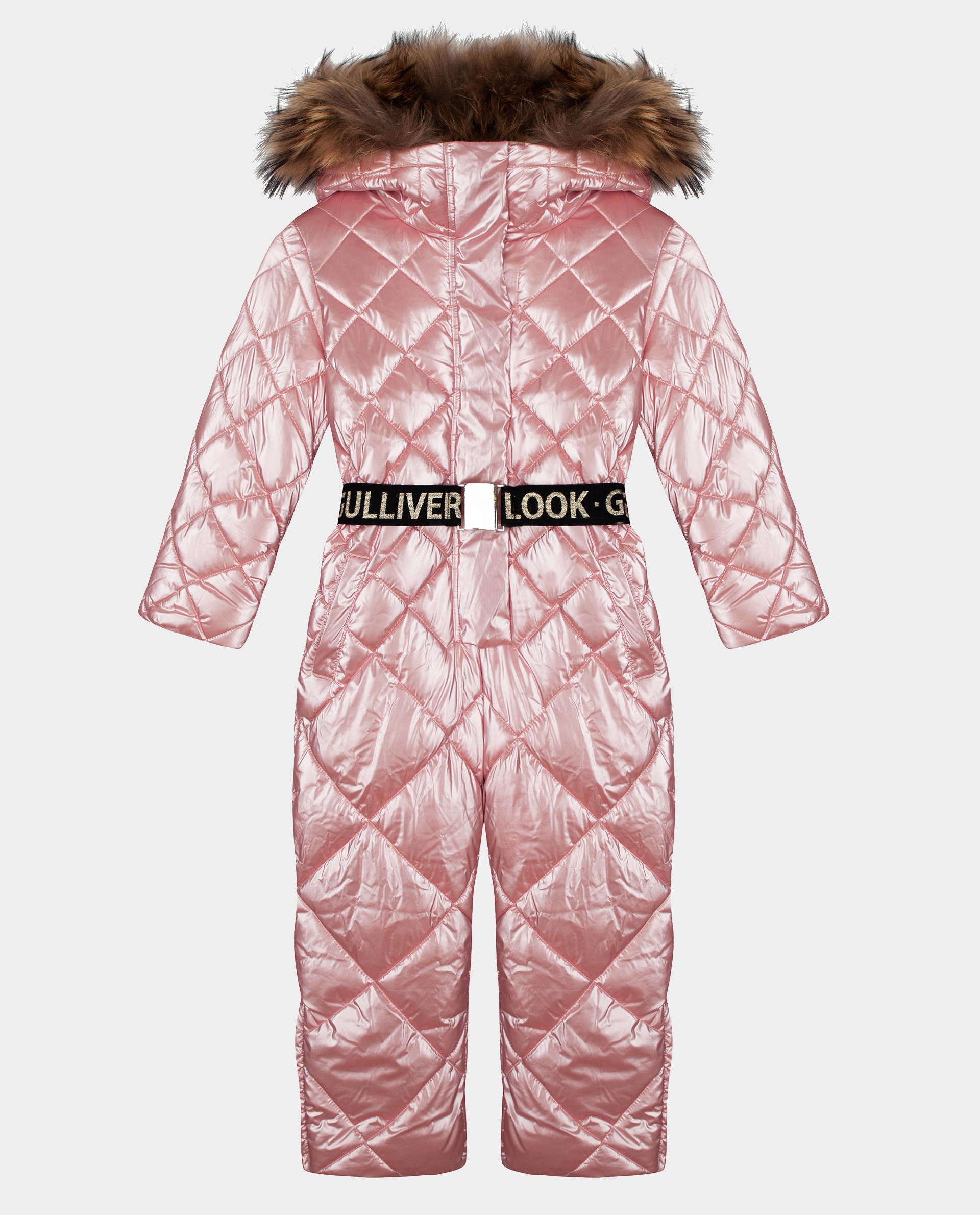 Розовый комбинезон зимний Gulliver 22001GMC6501, размер 128