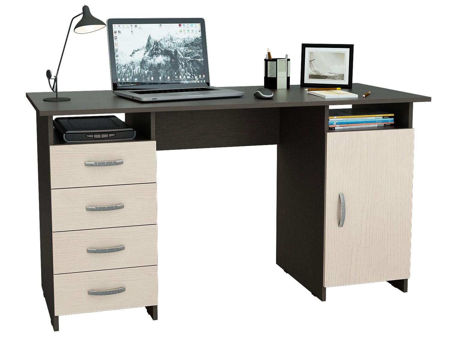 Компьютерный стол Милан 7 (0120) Венге/Дуб Молочный