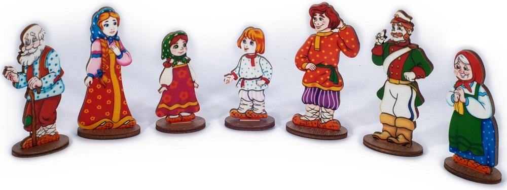 Купить Настольный кукольный театр Нескучные игры Мир русских сказок Сказочные герои, Нескучные Игры,
