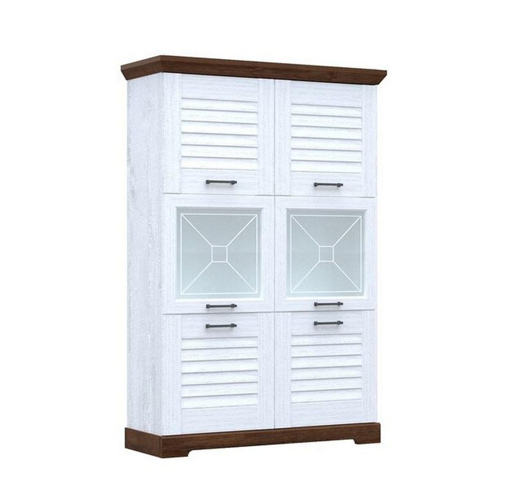 Шкаф витрина Пенал Кантри низкий со стеклом
