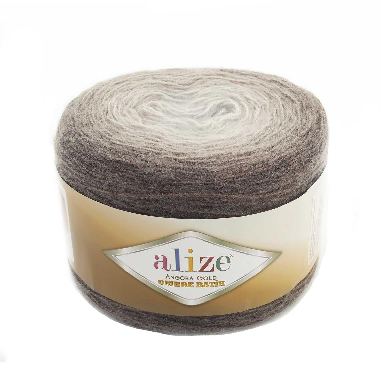 Пряжа для вязания Alize Angora Gold Ombre Batik, цвет: 7243, 825 м, 150 г (4 мотка) 4 шт.