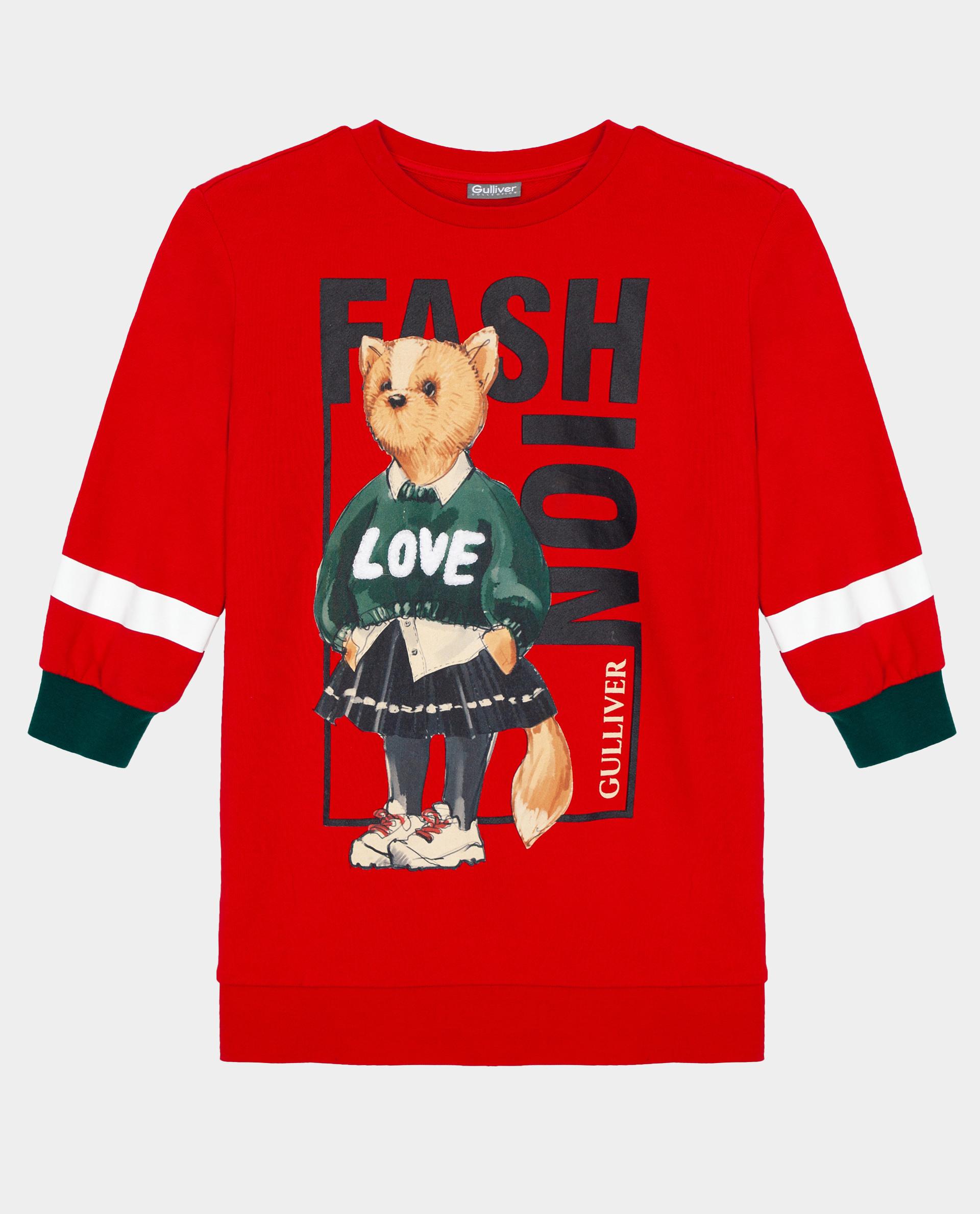 Красное платье Gulliver 22002GMC5003, размер 116,  - купить со скидкой