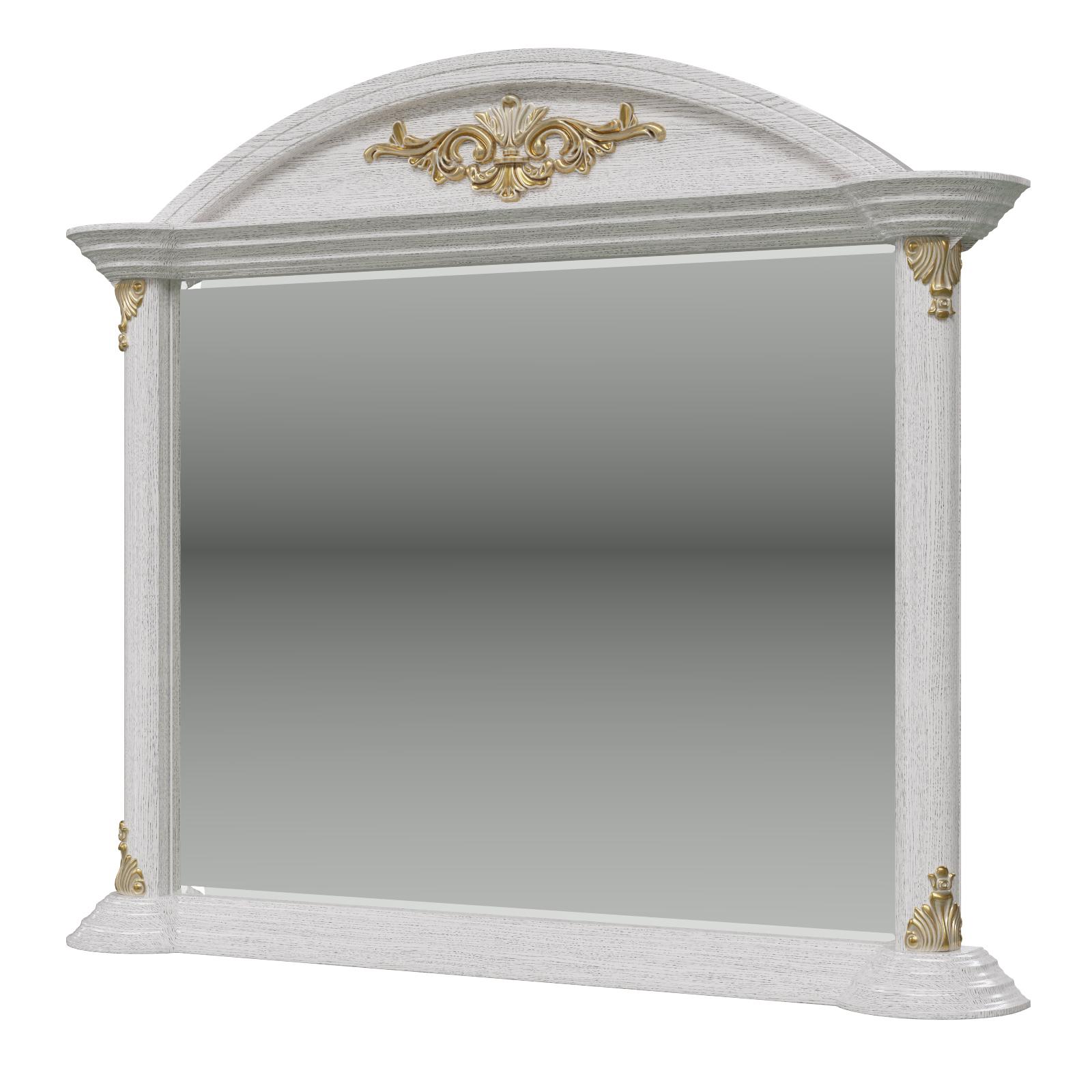 Зеркало Мэри-Мебель Да Винчи ГД-07 патина белый, 121х13х105 см. фото