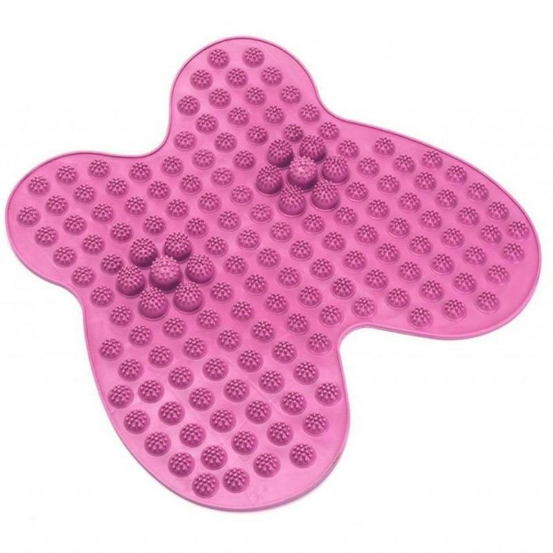 Массажный латексный коврик FUTZUKI для ног розовый