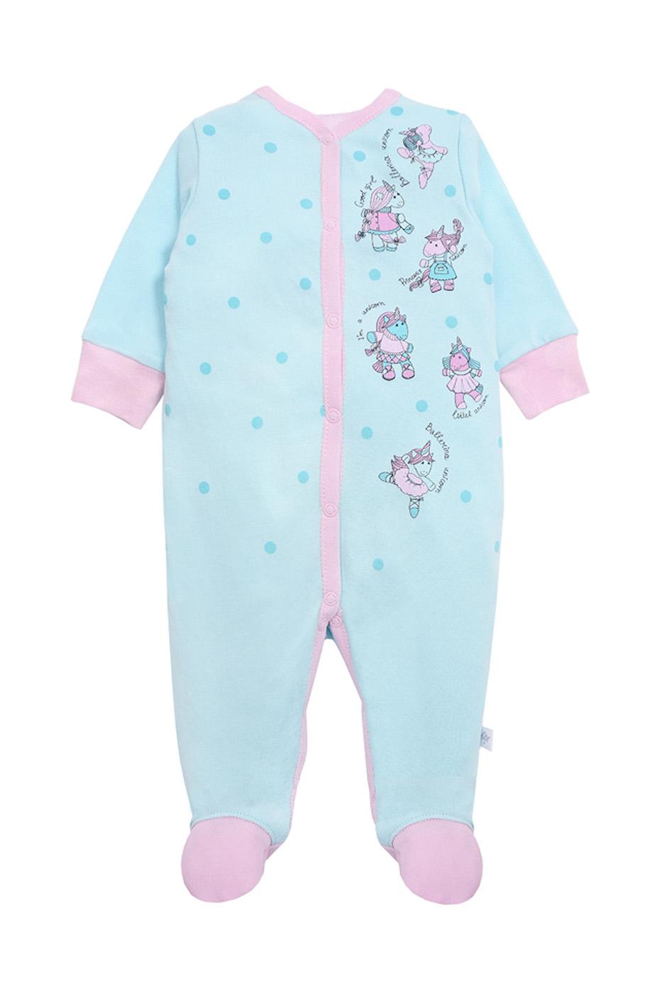 Купить 19-806, Комбинезон детский Мамуляндия, цв. голубой, р-р 74, Слипы для новорожденных