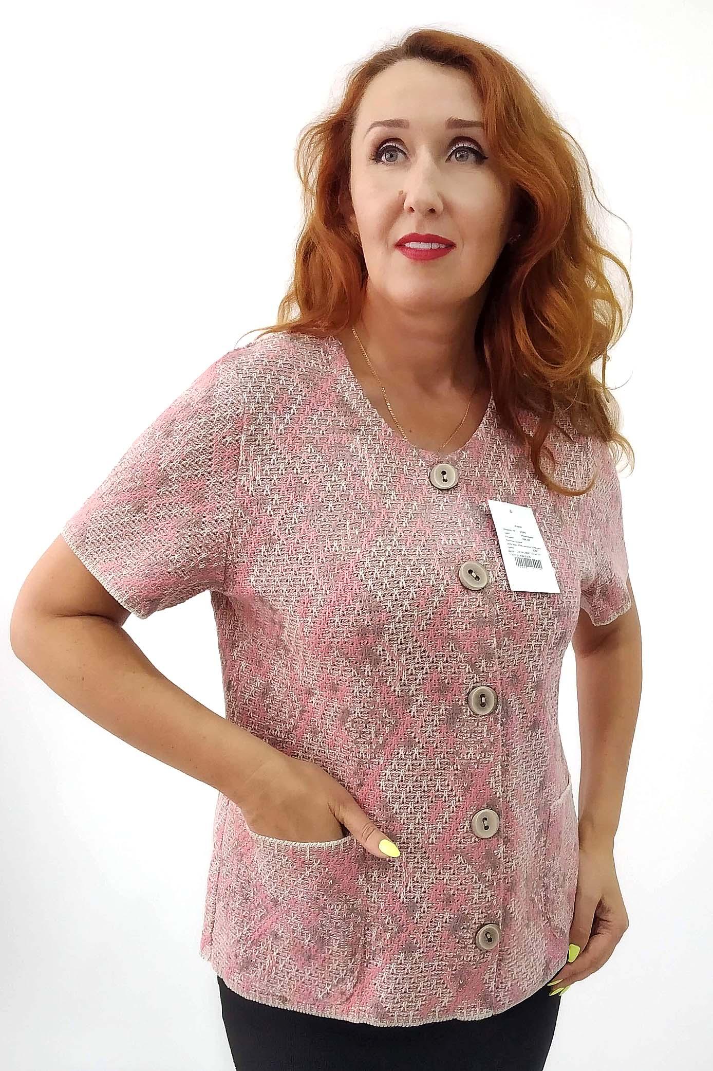Жакет женский Злата М 2099 розовый 60 RU