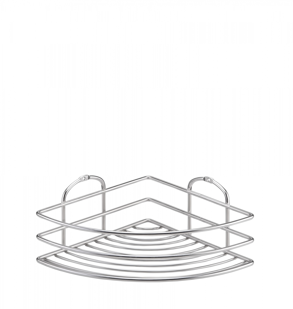 Полка в ванную TEKNO-TEL угловая BK021SSM 1 ярус 20х20х9 по цене 977