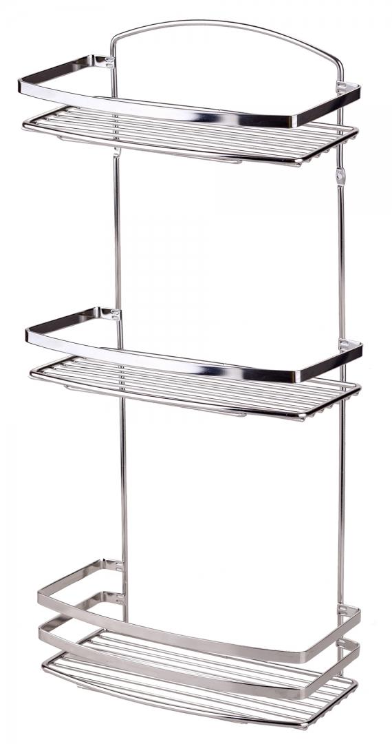 Полка в ванную TEKNO-TEL прямая BK086SSM 3 яруса 25х13х48 по цене 2 993