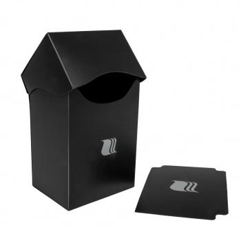 Пластиковая коробочка Blackfire вертикальная черная, 80+ карт