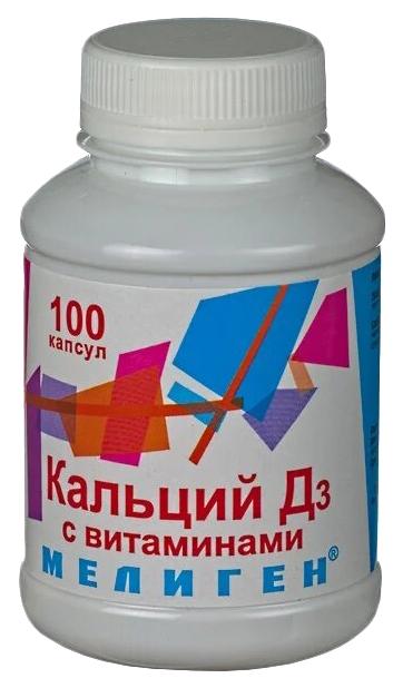 Купить Кальций-Д3 с витаминами Мелиген капсулы 570 мг 100 шт., Мелиген ФП