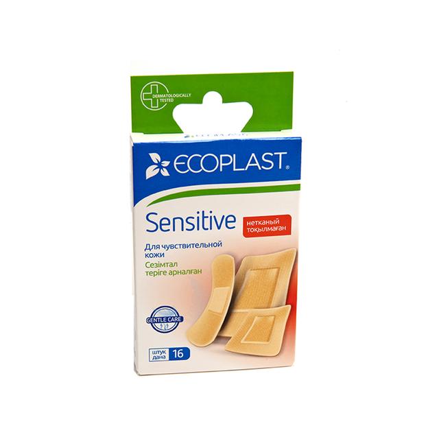 Купить Набор пластырей медицинских Sensitive 16 шт., Ecoplast