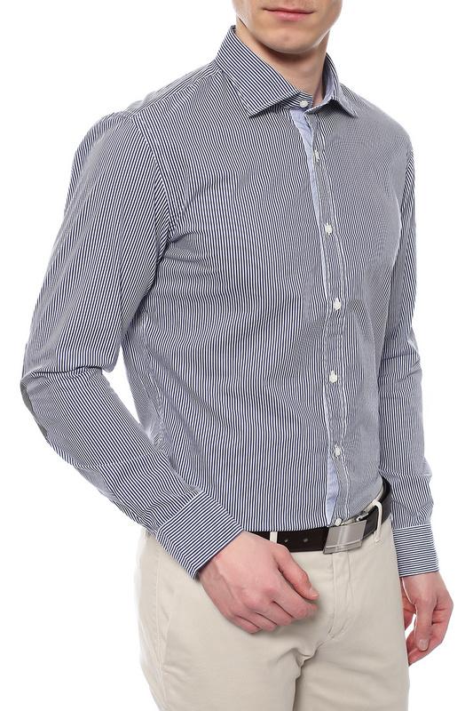 Рубашка мужская MARINA YACHTING 220275223930 синяя 42 IT