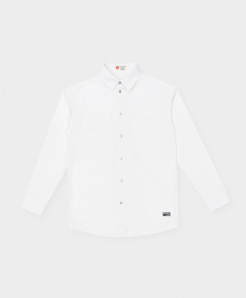 Сорочка белая с карманами Button Blue 221BBBS23070200 р.140