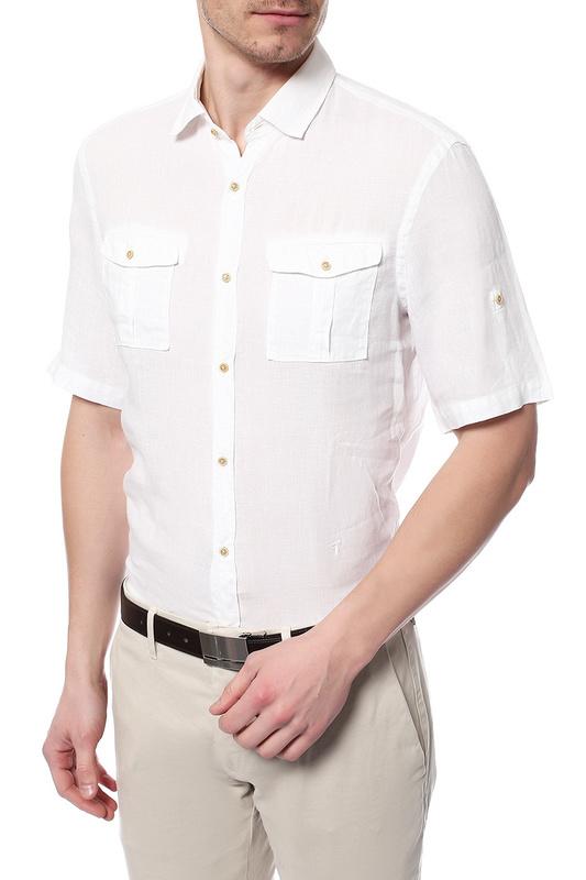 Рубашка мужская TRU TRUSSARDI 624034 белая 39 IT