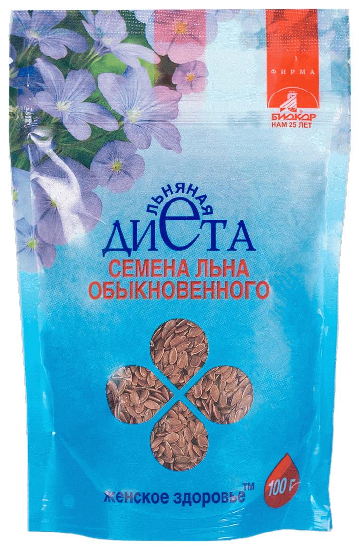 Купить Льна обыкновенного семена Женское здоровье 100 г, Биокор Фирма