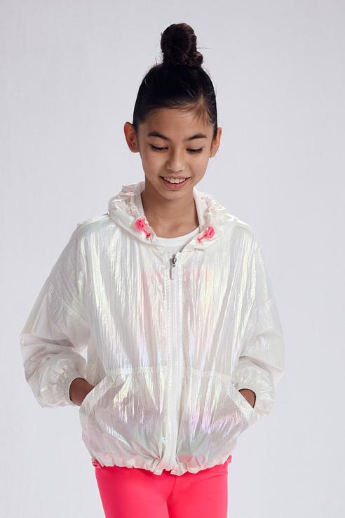 Купить Голографичная куртка-ветровка Mayoral 6474/21 Белый 152,