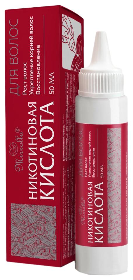 Купить Никотиновая кислота для волос Мирролла 65 мл, Mirrolla