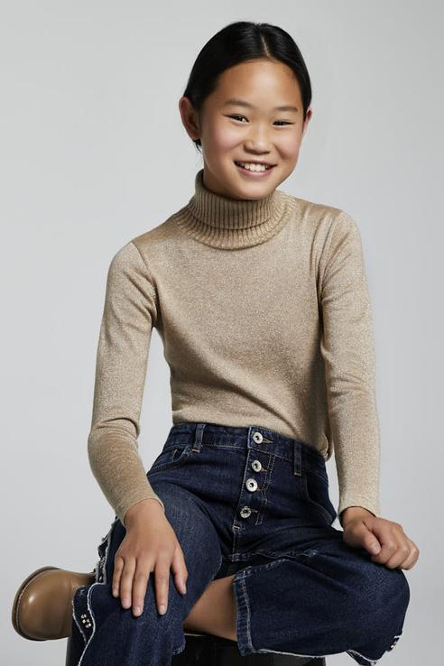 Пуловер с металическим волокном Mayoral 345/22 цв. красный р. 140,  - купить со скидкой