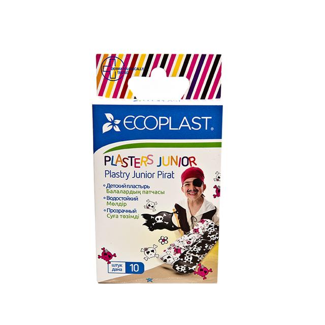 Купить Набор пластырей медицинских Junior pirate 10 шт., Ecoplast